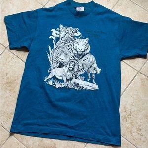 Vintage Busch Gardens Animal Print T-Shirt